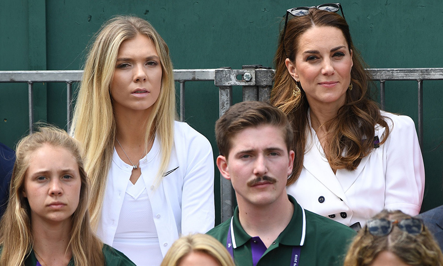 The royal woman sat beside British tennis player and friend <strong>Katie Boulter</strong>. They sat in Court 14 watching Britain's <strong>Harriet Dart</strong> playing against US player <strong>Christina McHale</strong>.