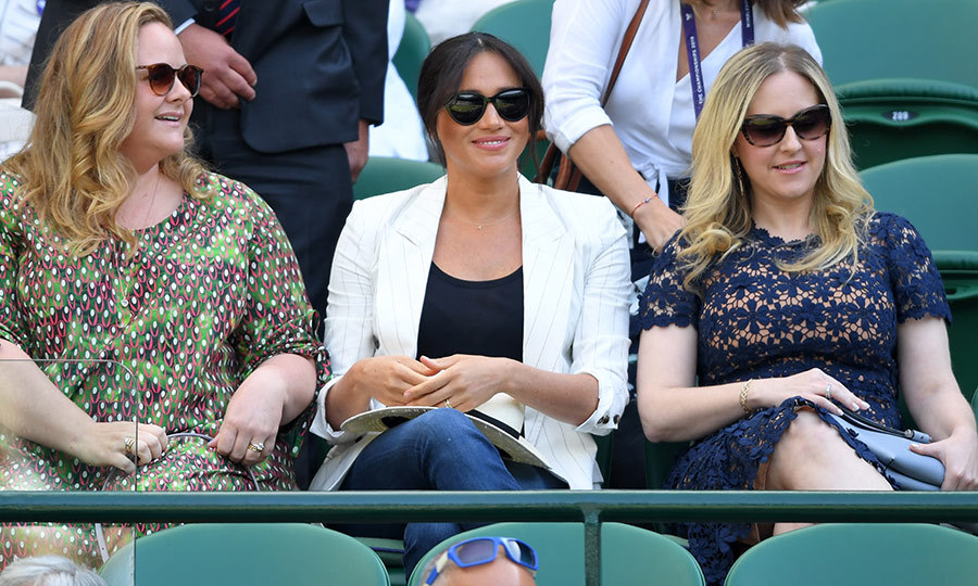 "On July 4, <strong><a href=""/tags/0/meghan-markle"">Duchess Meghan</a></strong> marked the US Independence Day holiday by stepping out to <strong><a href=""/tags/0/wimbledon"">Wimbledon</a></strong> to watch her good friend <strong><a href=""/tags/0/serena-williams"">Serena Williams</a></strong> take on Slovenia's <strong>Kaja Juvan</strong>. 
