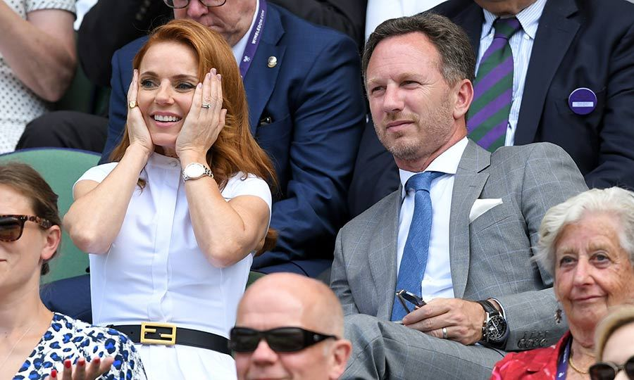 "<strong><A href=""/tags/0/spice-girls"">Spice Girls</a></strong> star <strong><a href=""/tags/0/geri-horner"">Geri Horner</a></strong> and her husband <strong>Christian Horner</strong> were also in the royal box on July 5! Geri also looked like she was having a blast, and we love her facial expressions throughout the match!