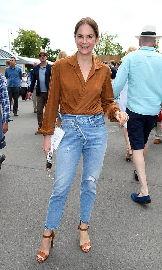 <strong>Ruth Wilson</strong> looked casual and cool as she stepped out to Wimbledon on July 8. The former <i>Luther</i> and <i>The Affair</i> star sported a pair of ripped jeans, brown heels and a matching suede blouse.