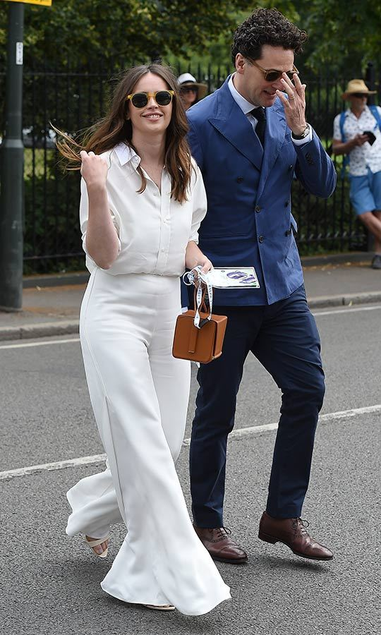 "Oscar-nominated actress <strong><a href=""/tags/0/felicity-jones"">Felicity Jones</a></strong> and her husband <strong>Charles Guard</strong> were also among the celebs who stepped out to Wimbledon on July 8. 