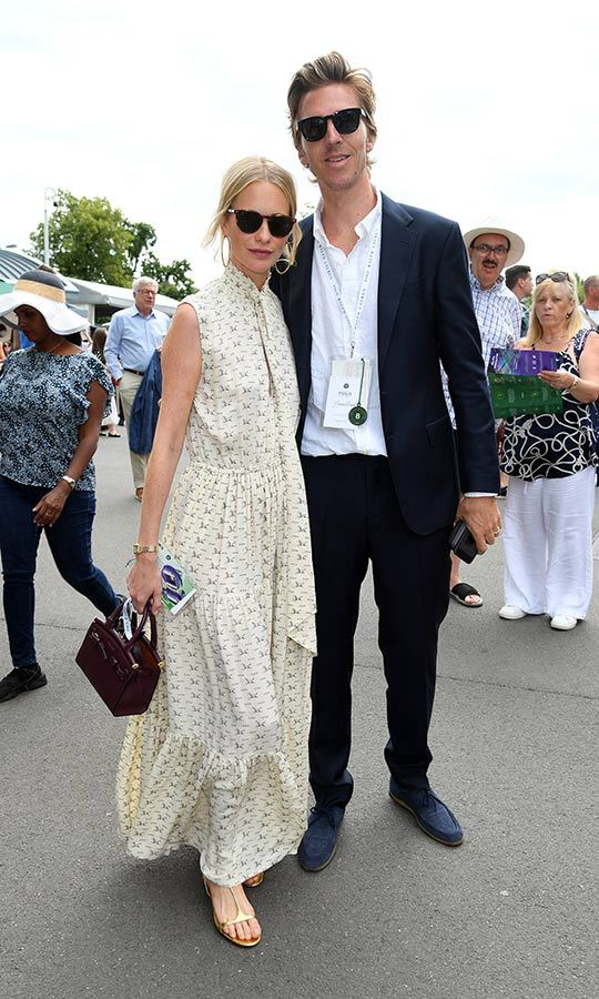 "<strong><a href=""/tags/0/poppy-delevingne"">Poppy Delevingne</a></strong> and her husband <strong>James Cook</strong> looked chill and happy as they stepped out to Wimbledon on July 8. 