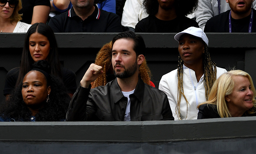 "<strong>Alexis Ohanian</strong>, <strong><a href=""/tags/0/serena-williams"">Serena Williams</a></strong>'s husband, was on the edge of his seat as he came out to Wimbledon to cheer her on July 9. Look at that fist pump! We want him on our team!