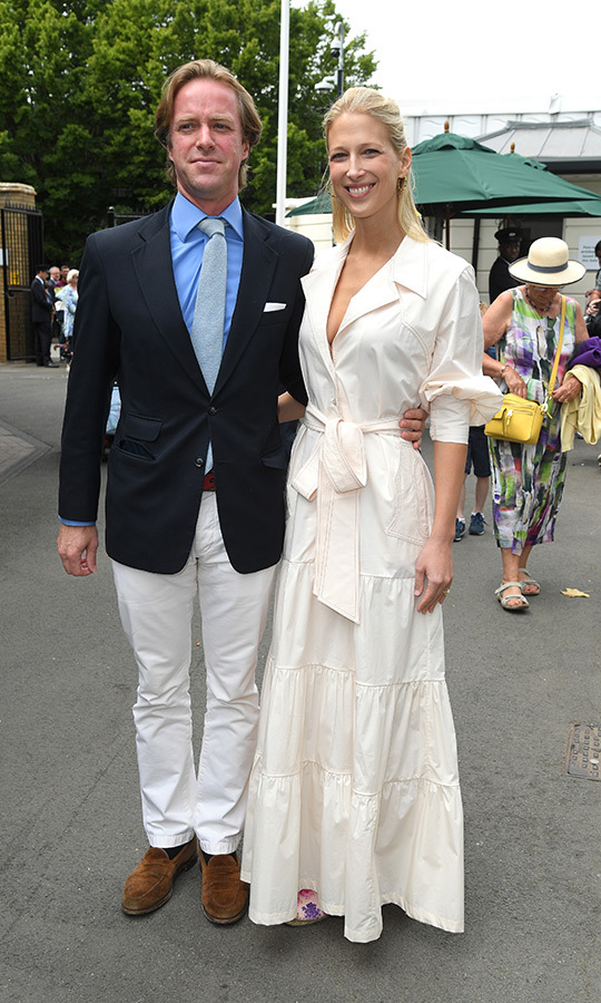 "Newlyweds <strong><a href=""/tags/0/thomas-kingston"">Thomas Kingston</a></strong> and <strong><a href=""/tags/0/lady-gabriella-windsor"">Lady Gabriella Windsor</a></strong> looked in love and happy to be out at <strong><a href=""/tags/0/wimbledon"">Wimbledon</a></strong> on July 9! 