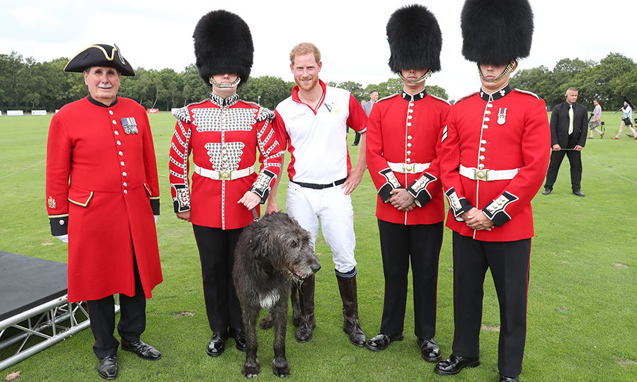 Redheaded Harry took some time to pose with some of those on hand whose uniforms matched with his own! 