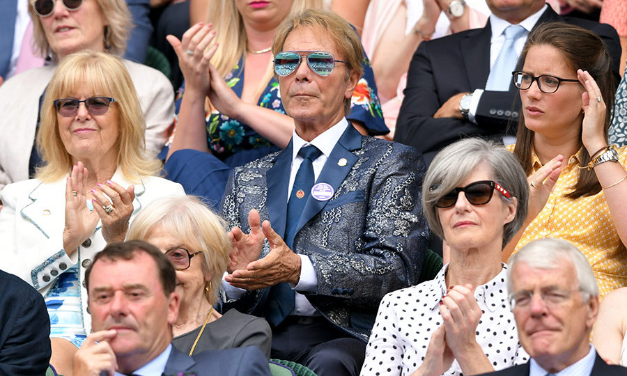 <strong>Sir Cliff Richard</strong> was back at Wimbledon for his third day at the tournament, and sported shades and yet another very unique, stylish jacket!