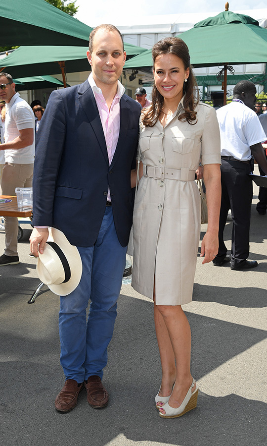"<strong><a href=""/tags/0/lord-frederick-windsor"">Lord Frederick Windsor</a></strong> and his wife <Strong><A href=""/tags/0/sophie-winkleman"">Sophie Winkleman</a></strong> stepped out for their first Wimbledon appearnace this year.
