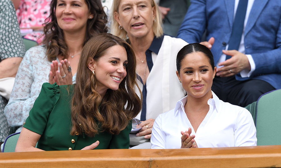 The two looked very engaged in the match. We're sure Meghan was thrilled to see Serena play, despite losing to Simona. 
