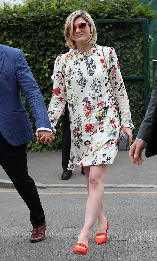 "<i><strong><a href=""/tags/0/doctor-who"">Doctor Who</a></strong>'s <strong><a href=""/tags/0/jodie-whittaker"">Jodie Whittaker</a></strong> looked super funky and stylish at Wimbledon on July 13! She wore a floral dress from <strong>Goat</strong>, which has been a go-to label for royals from <strong><a href=""/tags/0/zara-tindall"">Zara Tindall</a></strong> to Duchess Meghan. She wore bright <strong>Boden</strong> court heels on her feet.