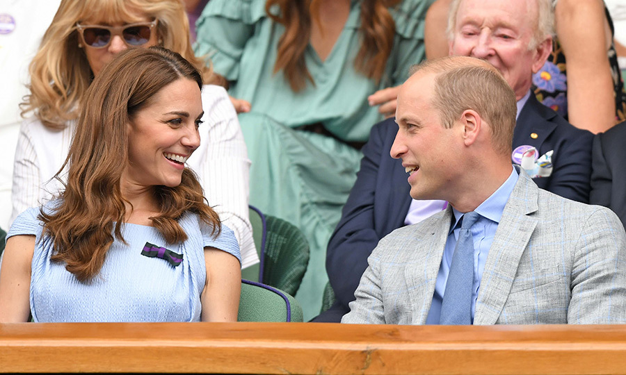 Kate and William looked like they were having a blast watching the match! 