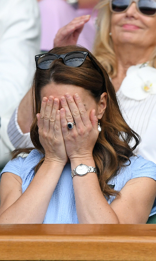 Oh, dear! Kate went through a lot of different emotions during the rollerocaster of a match!