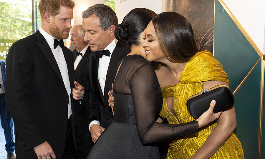 "Duchess meets Queen! <Strong><a href=""/tags/0/meghan-markle"">Duchess Meghan</a></strong> and <strong><a href=""/tags/0/beyonce"">Beyoncé</a></strong> were beaming at each other as they met on the red carpet at the European premiere of <i><strong><a href=""/tags/0/the-lion-king"">The Lion King</a></strong></i> on July 14. They even gave each other a hug! 