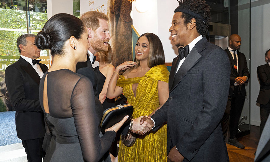 Harry was extremely happy to meet Bey and Hova, too!