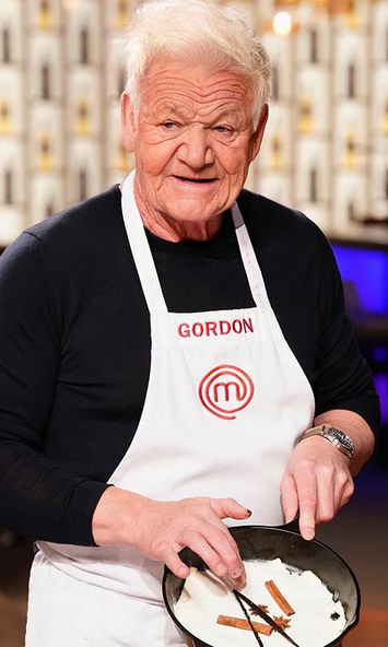 """Me doing a demo on Masterchef Season 50..."" <strong><a href=""/tags/0/gordon-ramsay"">Gordon Ramsay</a></strong> wrote when posting this. HAHA we can't! Your move, Jamie Oliver. 