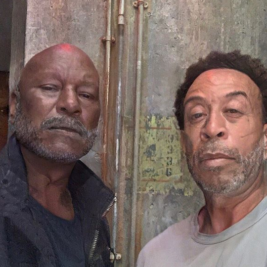 """Fast & Furious 50,"" <strong><a href=""/tags/0/ludacris"">Ludacris</a></strong> wrote of this FaceApp challenge with <i><strong><a href=""/tags/0/fast-and-furious"">Fast & Furious 9</i></strong></a> co-star <strong><a href=""/tags/0/tyrese"">Tyrese</a></strong>. ""We still haven't stopped at a gas station. Or for diapers."" 