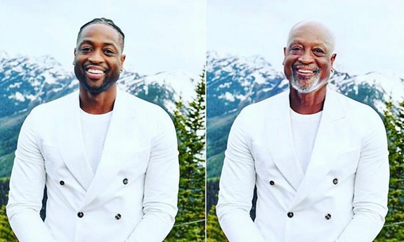 """Grandpa Wade huh,"" <strong><a href=""/tags/0/dwyane-wade"">Dwyane Wade</a></strong> wrote when posting his FaceApp challenge.