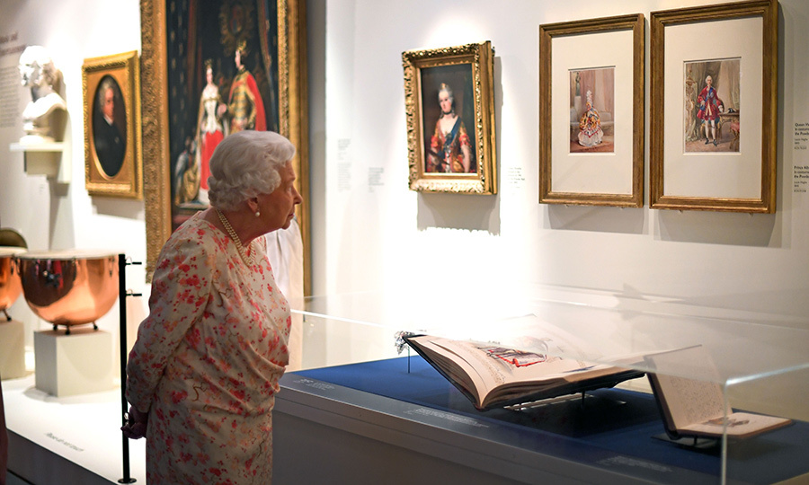 The Queen was keen on learning more about these portraits of Victoria and <strong>Prince Albert</strong>, her Consort, which were by <strong>Louis Haghe</strong>.