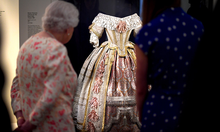 She also got to see a dress Victoria wore to the Stuart Ball in 1851. Like Her Majesty, Victoria was also a style icon!