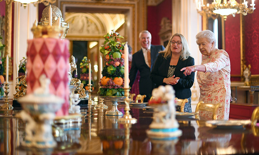 The State Dining Room also had a recreation of 'Victoria' dessert service, which was created when the monarch was on the throne.