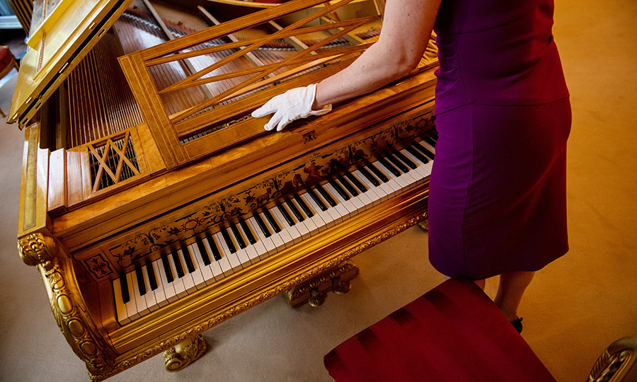 This impressive grand piano owned by Victoria is one of the items on display in the exhibit.
