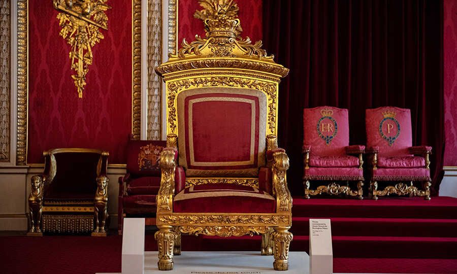 Victoria's throne is also in the exhibit.