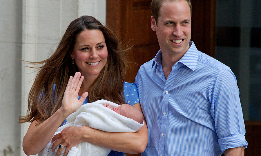 We all remember this day! Just a few days after he was born on July 22, 2013, George emerged from the Lindo Wing of St. Mary's Hospital in London with his proud parents, sleeping in his mother's arms. It was one of the biggest moments of the 21st century for the Royal Family, as an heir of the throne introduced his own heir to the world.