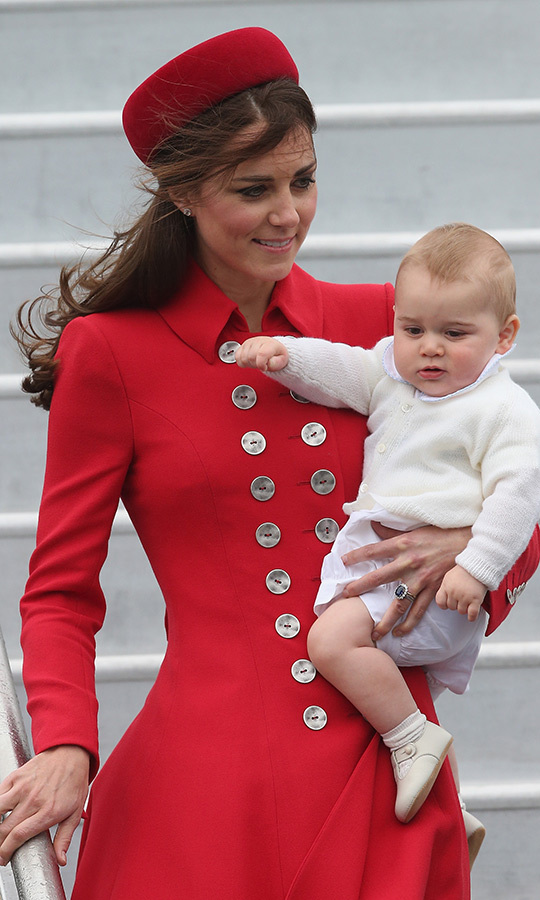 In April 2014, nearly nine-month-old George travelled to Australia and New Zealand with his parents on his very first royal tour!