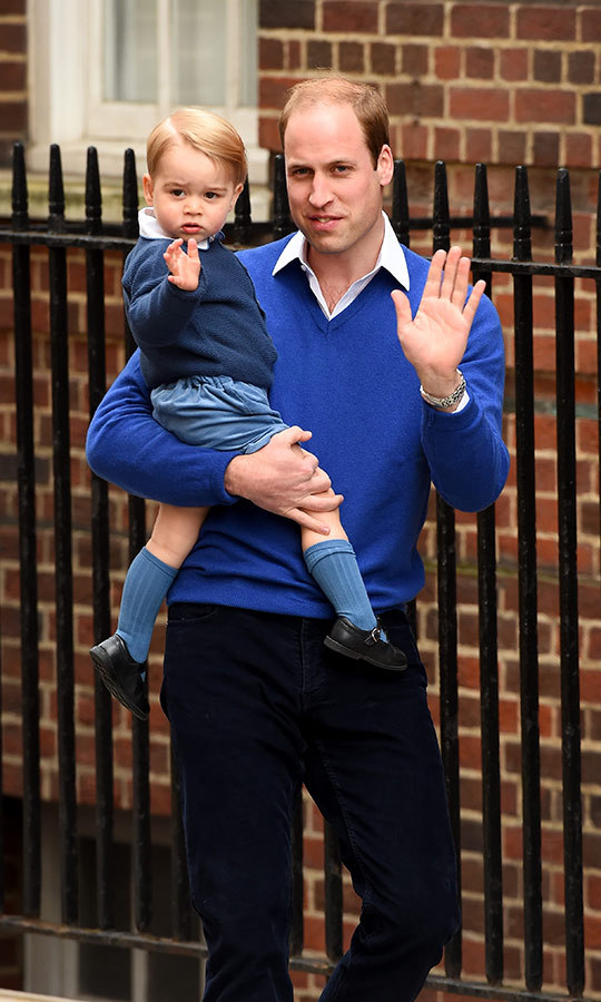 "In May 2015, George matched with his dad when the two visited St. Mary's Hospital in London to see mom Kate - and so George could visit his new baby sister, <strong><a href=""/tags/0/princess-charlotte"">Charlotte</a></strong>!