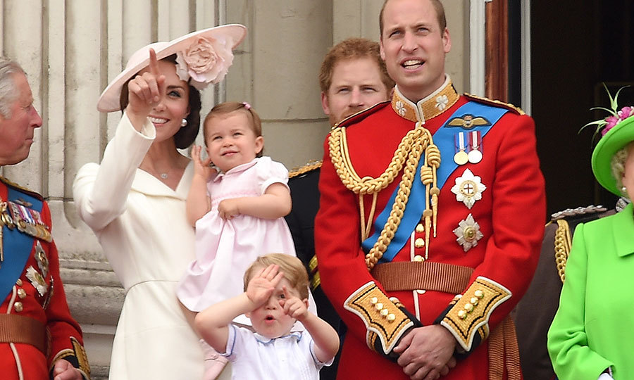 George seemed as fascinated as his baby sister in the flypast during Trooping the Colour in 2016. 