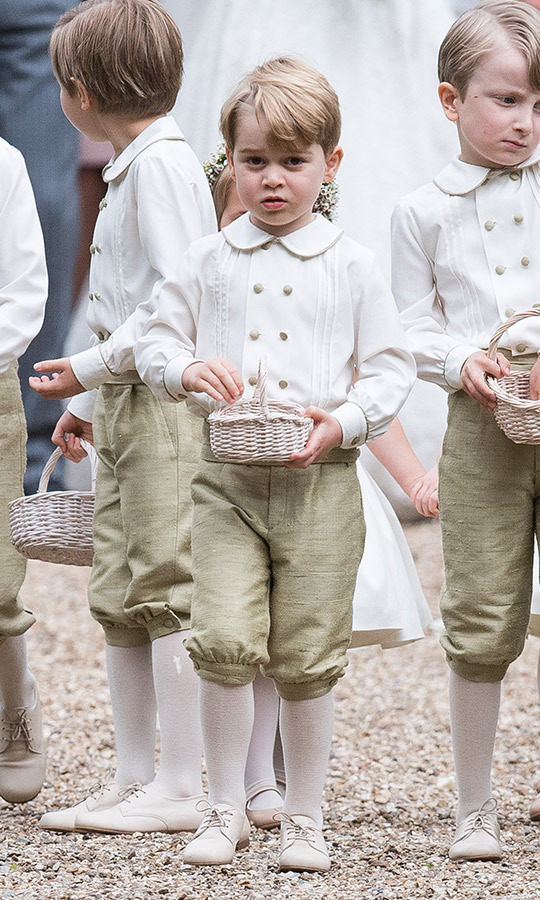 "George looked so sweet as a pageboy at his aunt <strong><a href=""/tags/0/pippa-middleton"">Pippa Middleton</a></strong>'s wedding in 2017!