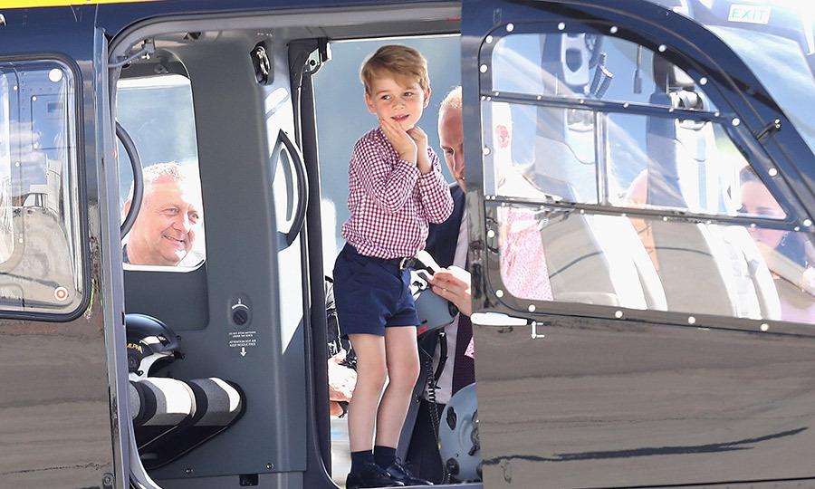 He seemed thrilled to be in a helicopter again at the stop in Hamburg on the tour!