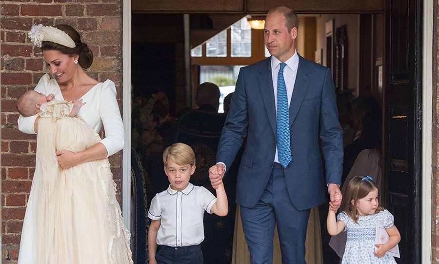 George looked so grown up at Louis's christening in July 2018!