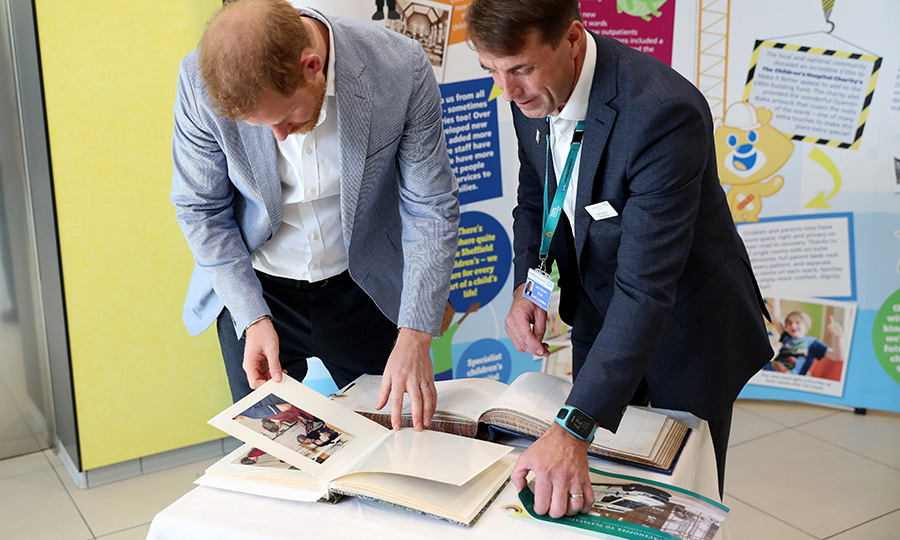 "<strong><a href=""/tags/0/prince-harry"">Prince Harry</a></strong> visited the South Yorkshire city of Sheffield on July 25 to help open a new wing of the Sheffield Children's Hospital.