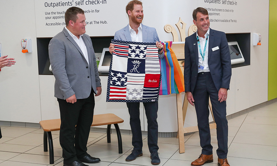 "He was also gifted a quilt that features Archie's initials along with red-white-and-blue American symbols! Perfect for his little boy, whose mother <strong><a href=""/tags/0/meghan-markle"">Duchess Meghan</a></strong> is American!