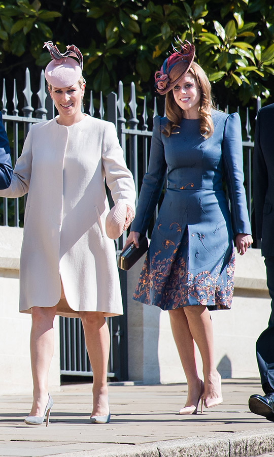 "<strong><a href=""/tags/0/princess-beatrice"">Beatrice</a></strong> looked absolutely stunning as she arrived with her family at Windsor Castle for Easter services in April! She wore a bespoke <strong><a href=""/tags/0/claire-mischevani"">Claire Mischevani</a></strong> dress with floral patterns, which she paired with a <strong><a href=""/tags/0/juliette-botterill"">Juliette Botterill</a></strong> hat and nude <strong><a href=""/tags/0/jimmy-choo"">Jimmy Choo</a></strong> heels. 