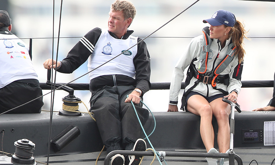 "Kate at the tiller! She looked very intent as she skippered her yacht, which she was racing for <strong><a href=""/tags/0/the-royal-foundation"">The Royal Foundation</a></strong>.
