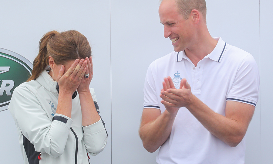 "It was then announced that <strong><a href=""/tags/0/kate-middleton"">Duchess Kate</a></strong> had finished dead last! She playfully hid her face while <strong><a href=""/tags/0/prince-william"">Prince William</a></strong> laughed. 
