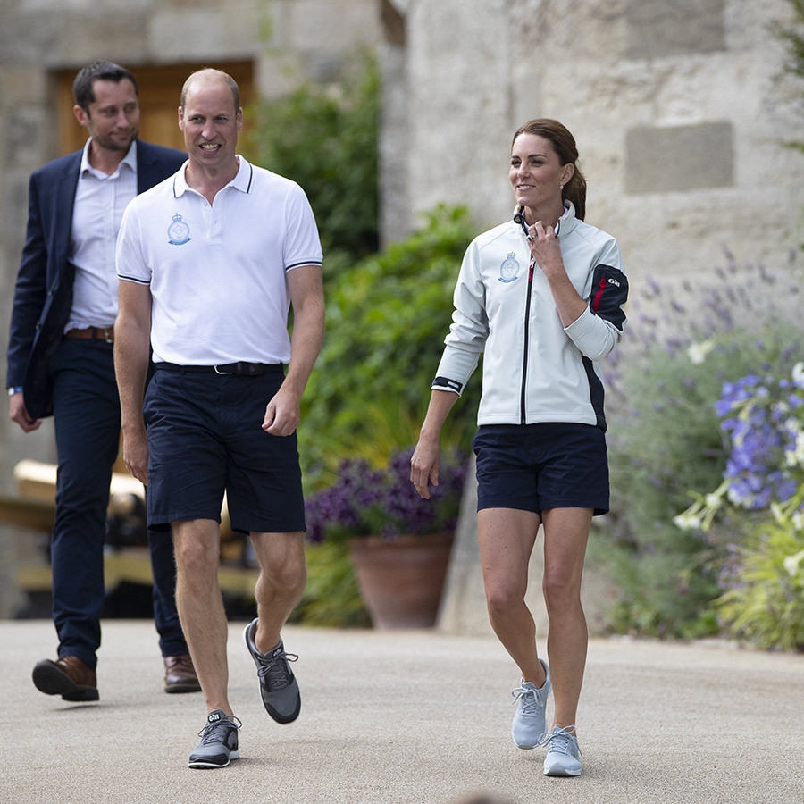 "<strong><a href=""/tags/0/prince-william"">Prince William</a></strong> and <strong><a href=""/tags/0/kate-middleton"">Duchess Kate</a></strong> both looked happy and relaxed as they left the Royal Yacht Squadron and headed over to the presentation of The King's Cup! 