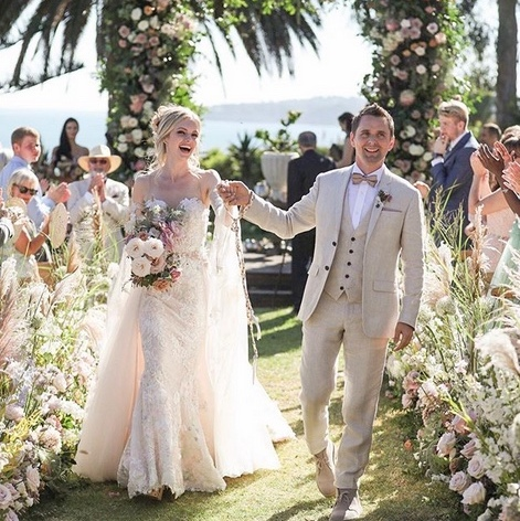 <h2>Matthew Bellamy and Elle Evans</h2>