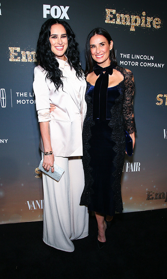 <h2>Demi Moore and Rumer Willis</h2>