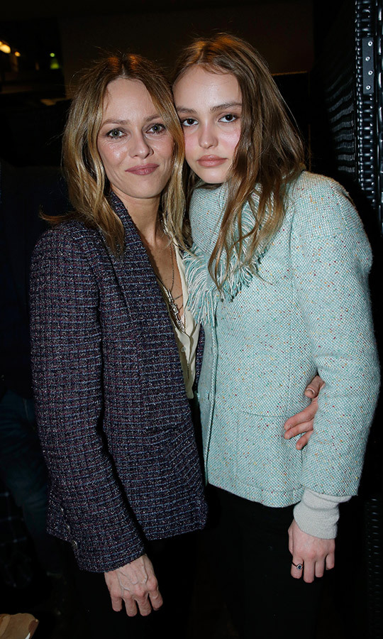 <h2>Vanessa Paradis and Lily-Rose Depp</h2>