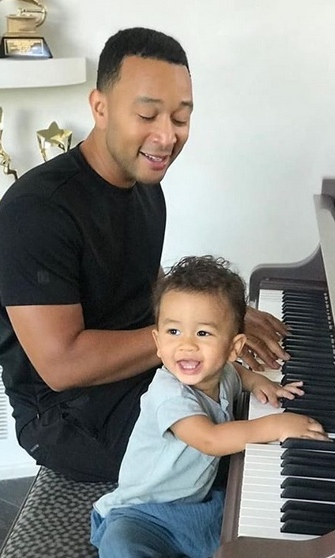 <h2>John Legend and Miles Legend</h2>