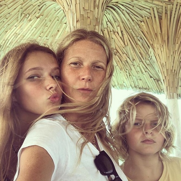 <h2>Gwyneth Paltrow and Apple Martin and Moses Martin</h2>