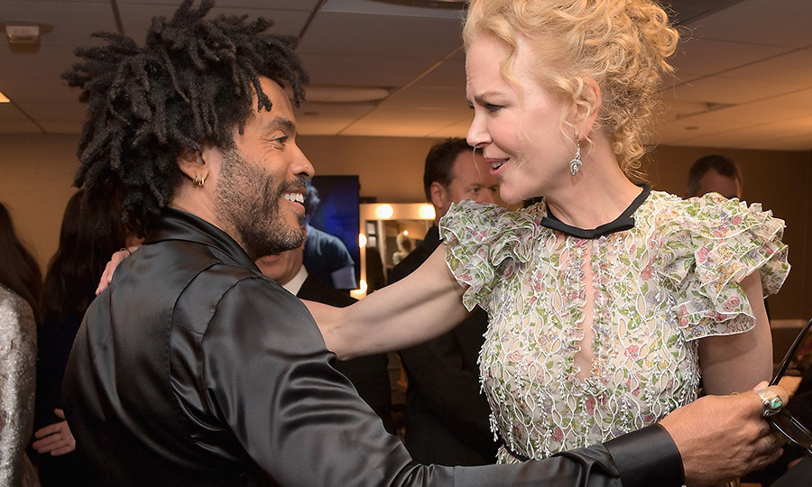 <h2>Lenny Kravitz and Nicole Kidman</h2>