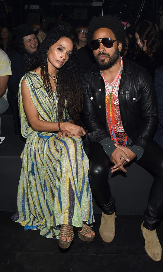 <h2>Lisa Bonet and Lenny Kravitz</h2>