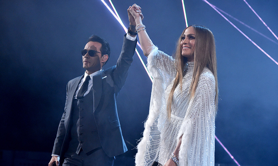 <h2>Marc Anthony and Jennifer Lopez</h2>