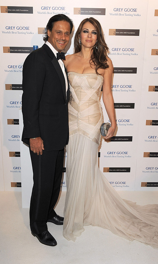 <h2>Elizabeth Hurley and Arun Nayar</h2>