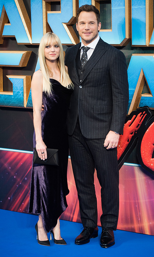<h2>Anna Faris and Chris Pratt</h2>
