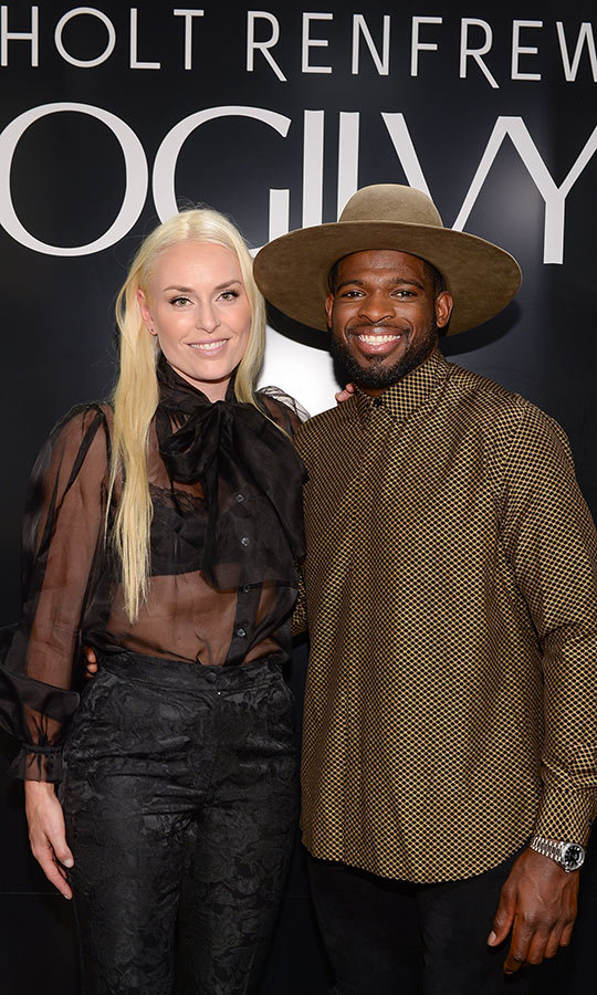 <h2>Lindsey Vonn and PK Subban</h2>