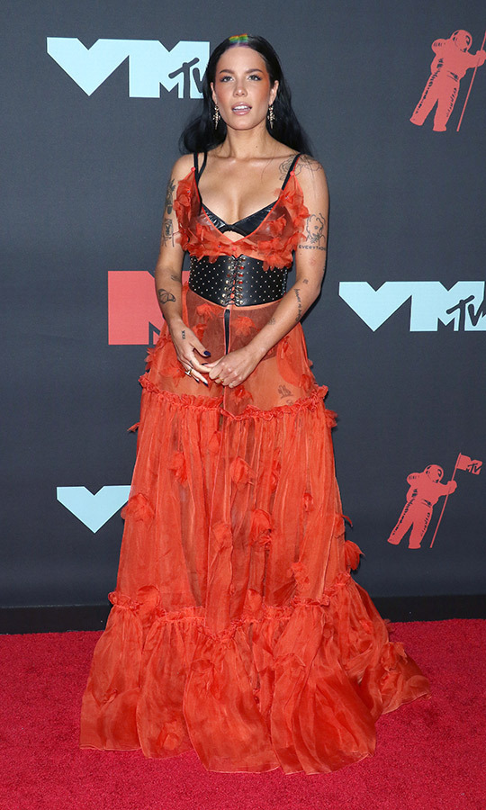 "<strong><a href=""/tags/0/halsey"">Halsey</a></strong> had dyed the part in her hair all the colours of the rainbow, and she paired it with a very unique ensemble!